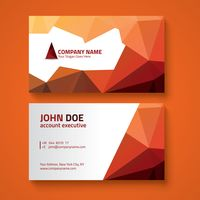 Faceted business card design