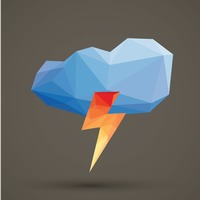 Faceted cloud and thunder