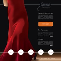 Flamenco dance class website template