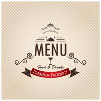 Food and drinks menu design