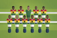 Foosball figurines represent ghana football team