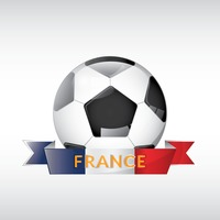 Football with france ribbon