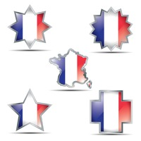 France flag buttons