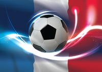 France flag with soccer ball