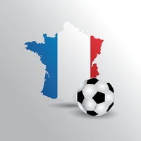 France map with football