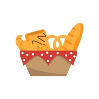 French food in basket