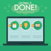 Getting it done infographic