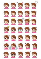 Girl face expression