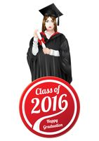 Graduation label with graduate