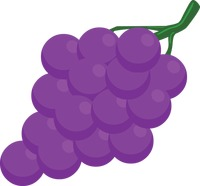 Grapes over a white background