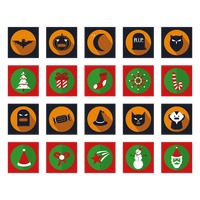 Halloween and christmas icons