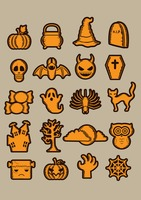 Halloween icon collection
