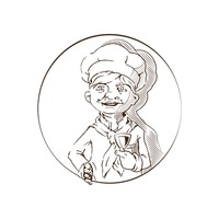 Hand drawn chef