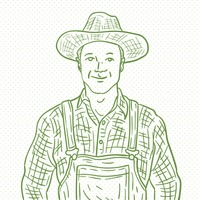 Hand drawn farmer