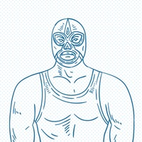 Hand drawn wrestler