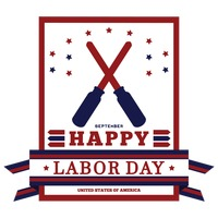 Happy labor day invitation