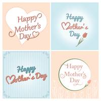 Happy mothers day card collection