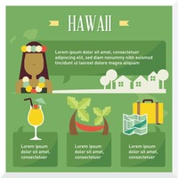 Hawaii travel infographic