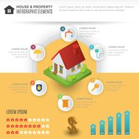 House and property infographic elements
