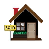 House with sold board