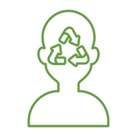Human head with recycle symbol