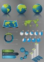 Infographic globe poster