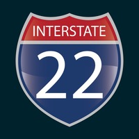 Interstate 22 route sign