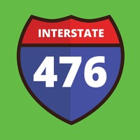 Interstate 476 route sign