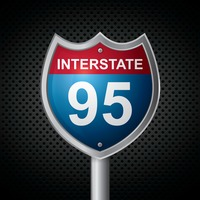 Interstate 95 route sign