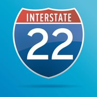 Interstate twenty two route sign
