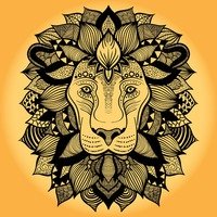 Intricate lion design