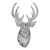 Intricate reindeer design