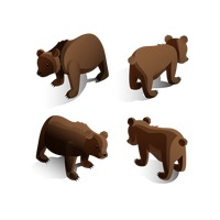 Isometric bears