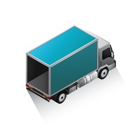 Isometric delivery van