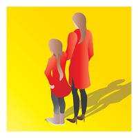 Isometric of a mother and daughter