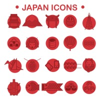 Japan icons collection