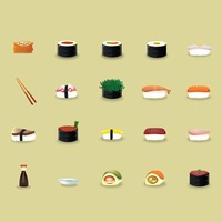 Japanese cuisine icons set
