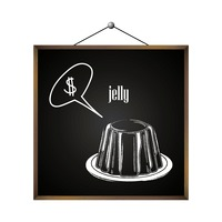 Jelly with dollar sign in speech bubble