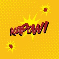 Kapow comic speech bubble