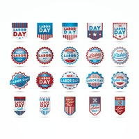 Labor day banners and labels collection