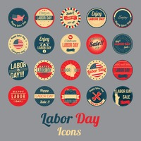 Labor day icons collection