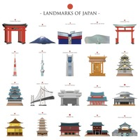 Landmarks of japan collection