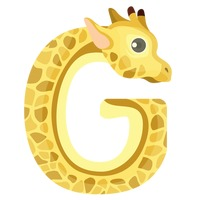Letter g for giraffe