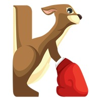 Letter k for kangaroo
