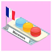 Macaroon with france flag