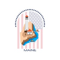 Map of maine state