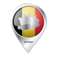 Map pointer with antwerp map