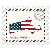 Massachusetts postage stamp