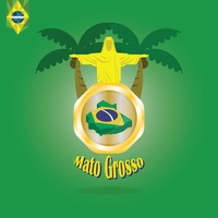 Mato grosso map wallpaper