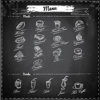 Meals and drinks menu